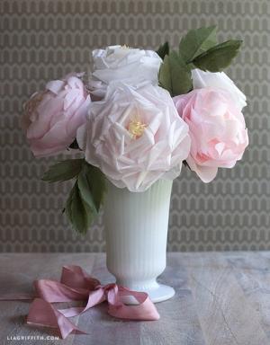 Hướng dẫn làm hoa hồng cực đẹp trong 30 phút từ khăn giấy