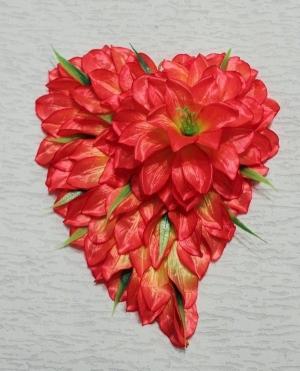 Làm hoa giả hình trái tim tuyệt đẹp