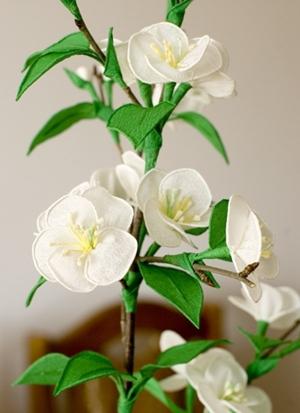 Cách làm hoa anh đào Nhật Bản từ giấy nhún