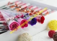 Hoa hồng sáp cành mã HS 03 - 1 bông