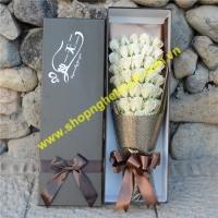 Hoa sáp hộp chữ nhật. Mã - 33 bông (60 x 20 x 12cm)