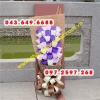 Hoa hồng sáp bó 33 bông.Mã HSO01 (60 x 20 x 12cm)