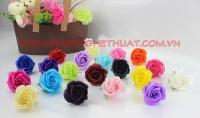 Hoa hồng sáp 3 lớp bông to có đài