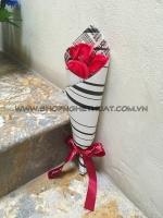 Hoa hồng sáp bó 3 bông