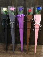 Hoa hồng sáp 1 bông hộp decal