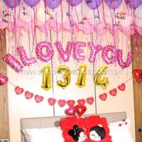 Bóng bay trang trí- I LOVE YOU 1314