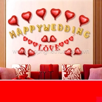 Set bóng trang trí phòng cưới - Happy wedding
