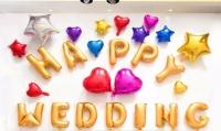 Set happy wedding sao tim
