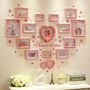 Trang trí phòng cưới đẹp LUNG LINH với khung ảnh