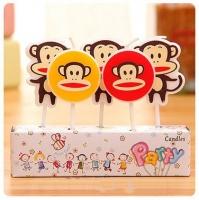 nến sinh nhật-nến hoạ tiết - hình khỉ con