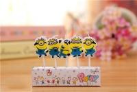 nến sinh nhật-nến hoạ tiết - hình minions