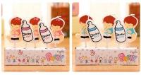 nến sinh nhật-nến hoạ tiết - hình bình sữa