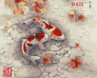 Tranh sơn dầu số hóa mã - D022