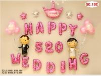 Set bóng trang trí phòng cưới - SC.10C