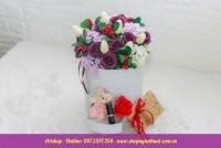 Hộp hoa sáp Hàn Quốc. Mã HSH 21