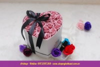 Hộp hoa sáp Hàn Quốc cỡ to có ngăn đựng quà. Mã HSH 25