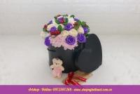 Hộp hoa sáp Hàn Quốc. Mã HSH 32