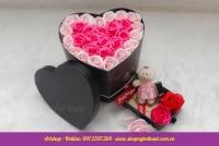Hộp cắm hoa trái tim (Có ngăn dưới)