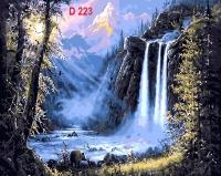 Tranh sơn dầu số hóa mã - D223