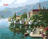Tranh sơn dầu số hóa mã - D221