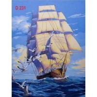 Tranh sơn dầu số hóa mã - D231