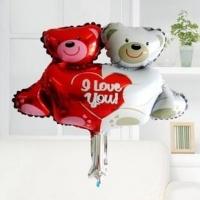 Bóng sinh nhật- gấu đôi ôm tim