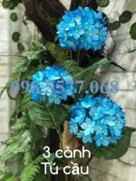 Nguyên liệu làm hoa cẩm tú cầu 3 cành