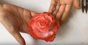 Hướng dẫn làm hoa hồng bằng giấy 3D cực đơn giản