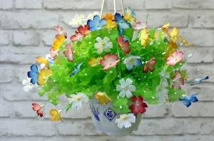 Hướng dẫn làm hoa giấy lụa 3d đẹp như thật