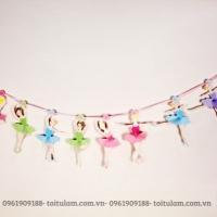 Dây treo sinh nhật thiếu nữ múa ba lê