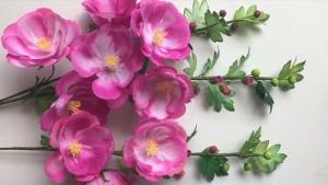 Hướng dẫn làm hoa mãn đỉnh hồng bằng giấy 3D trang trí nhà cực đẹp