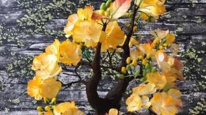 Hướng dẫn làm hoa mai – Hoa giấy 3D