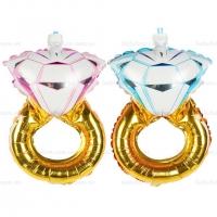 Bóng bay trang trí hình chiếc nhẫn kim cương