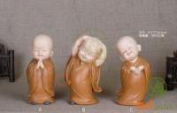 Bộ tượng chú tiểu an nhiên