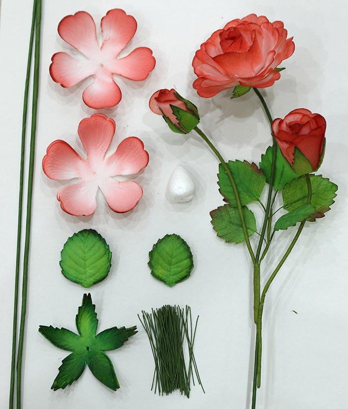 Bộ nguyên liệu hoa hồng giấy 3D