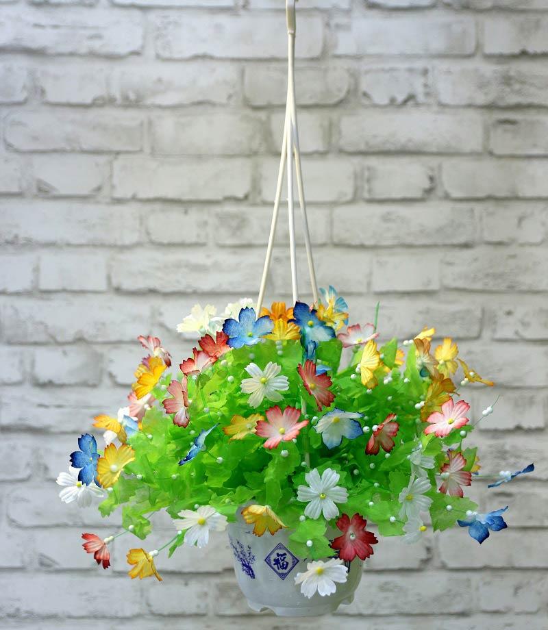 Hoa giấy lụa 3D nhiều màu bắt mắt