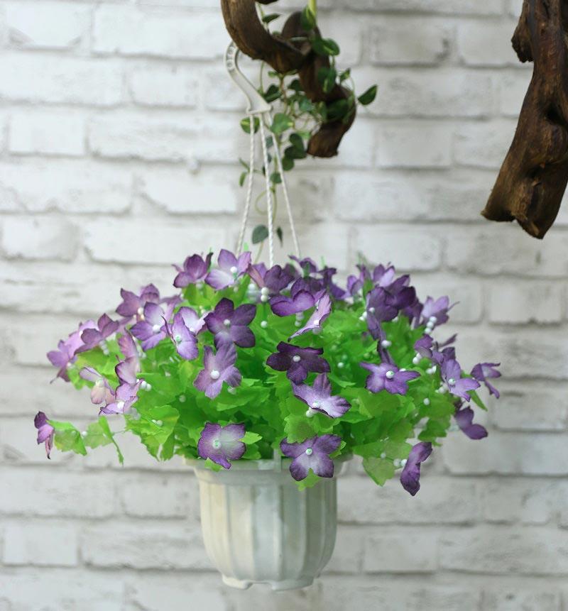 Hoa giấy lụa mài tím đẹp mắt