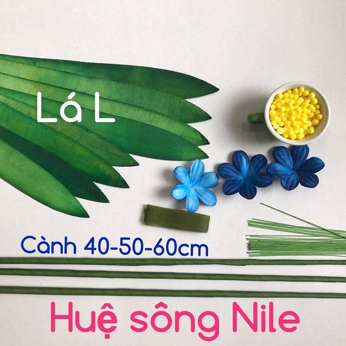 Bộ nguyên liệu làm hoa huệ sông Nin