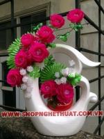 Hoa Hồng cắm trên Bình Nghệ Thuật - Mã: HPL 257