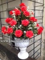 Hoa Pha Lê Nghệ Thuật - Hoa Hồng Đỏ - Mã: HPL 261