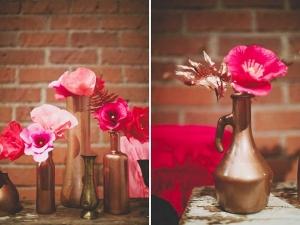 Hoa để bàn đẹp miễn chê từ giấy nhún