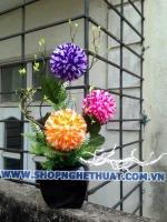 Hoa cẩm tú cầu pha lê