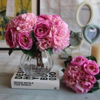 Hoa bó cẩm tú cầu, hoa trà HL047
