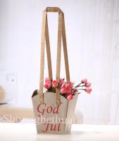 Túi giấy cắm hoa vuông